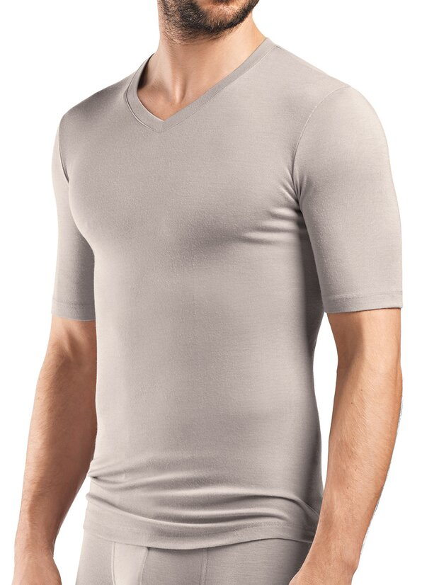 Shirt V-Neck - Silk Cashmere